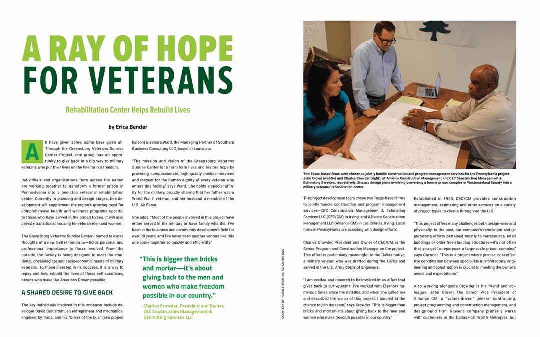 A Ray of Hope for Veterans   Veterans Sunrise Center Greensburg Pennsylvania